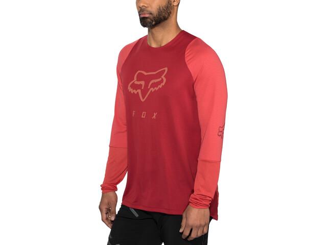 Fox Defend Foxhead LS Jersey Herre cardinal